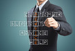 Leinwanddruck Bild - Business man writing customer service concept