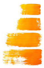 Strokes of orange paint