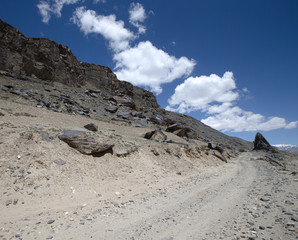 Tajikistan. Pamir highway. Road to the clouds.