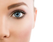 Leinwanddruck Bild - Close up of beautiful blue eye