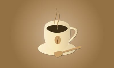 illustrazione di una tazzina di caffè