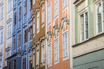 Baroque facades in Linz, Austria