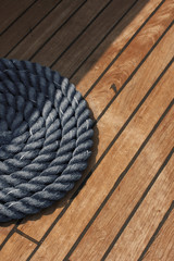 Rope on boat's deck