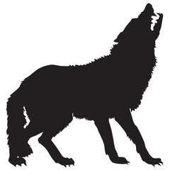 silhouette of a wolf-ill