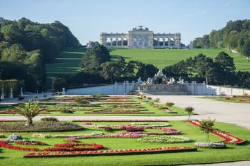 Schönbrunn Gardens in Vienna, Austria
