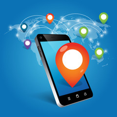 phone with location icon