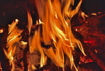 Aflame wood 14