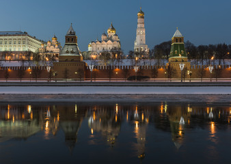 Россия. Москва. Кремль ночью.