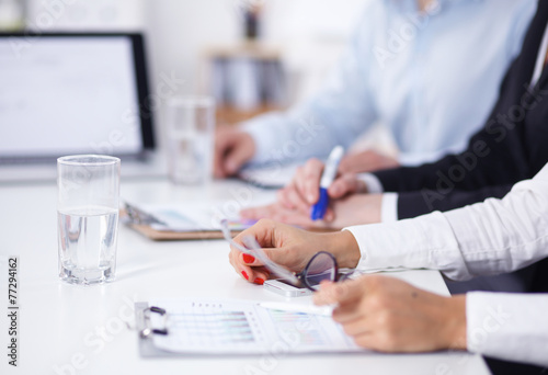 canvas print picture Business people working on project in office