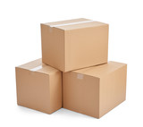 box package delivery cardboard carton stack - 77294797