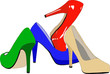 Un set di scarpe femminili