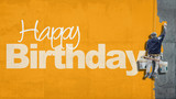 Happy Birthday wall yellow