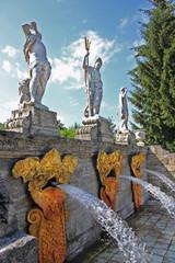 "Fountain ""Gold Mountain"" in Peterhof, Russia"