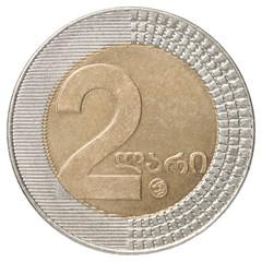 Georgian lari coin