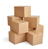 box package delivery cardboard carton stack - 77295799