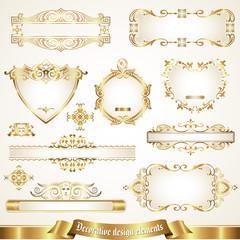 Decorative design elements set 4
