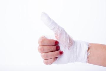 Bandage on a hand