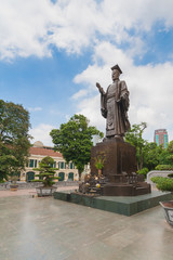 Ly Thai To statue in park near Sword lake in Hanoi, Vietnam.
