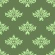 Light green floral seamless pattern
