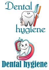 Dental hygiene logo and mascots