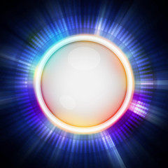 button and blue light background