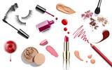 make up beauty lipstick nail polish liquid powder mascara pencil - 77299136