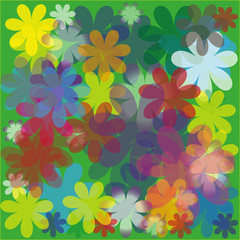 abstract flowered background