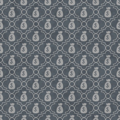 Gray Money Bag Repeat Pattern Background