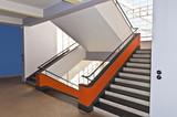 Treppenaufgang Bauhaus Dessau poster