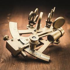 old bronze sextant