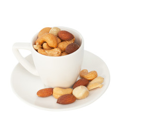 Mixed nut isolated on the white background