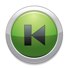 Previous Sign Icon / Green Button