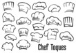 Chef hats and toques set - 77302592