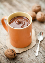 cocoa drink made of coconut milk