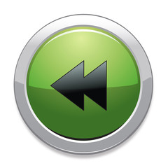 Backward Sign Icon / Green Button