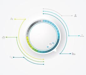 Round preloading progress bar / Business Infographics