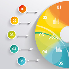 3D Infographic. Can be used for number options, diagram, web des