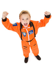 Astronaut: Boy Cheering to Go Into Space