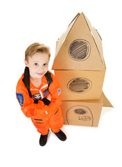 Astronaut: Ready to Take Off in Space Ship