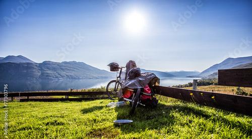 Leinwandbild Motiv Fahrrad Schottland