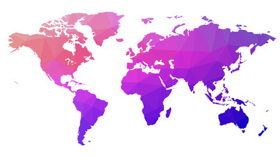 Map of the world in triangles. Raster 5