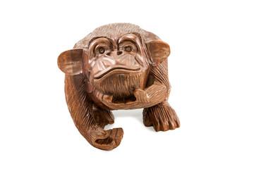 Wooden decorative monkey