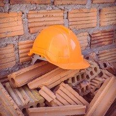 construction helmet safety for protect worker from accident