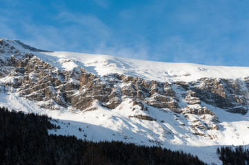 Winter scenery in Hintertux