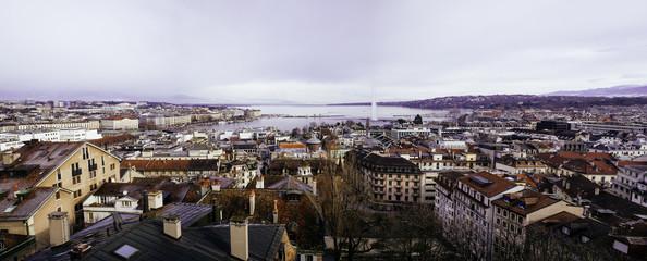 Geneva winter panoramique