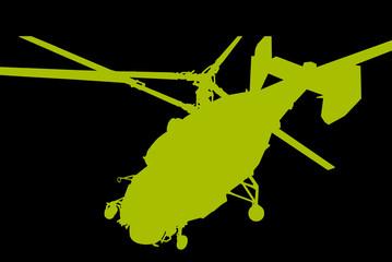helicóptero verde