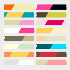 colorful masking tape vector