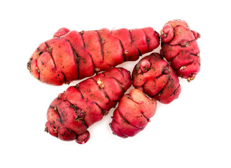 Group of new zealand pink oca yams studio isolated