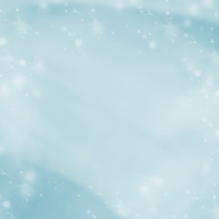 Blue abstract winter background. Blurred background