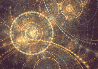 abstract circle fractal background